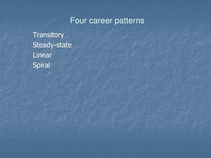 Four career patterns