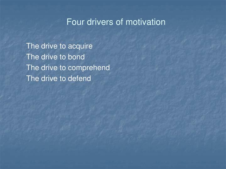 Four drivers of motivation