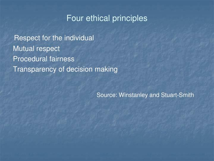 Four ethical principles