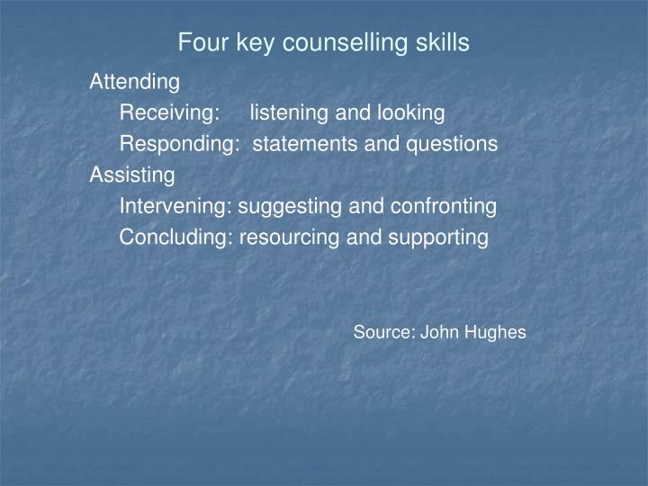 Four key counselling skills