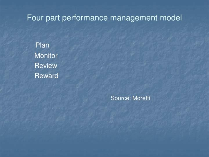 Four part performance management model
