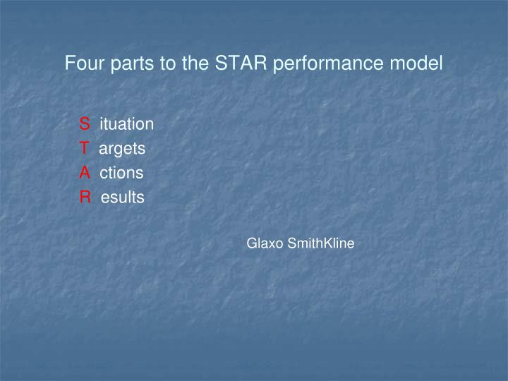 Four parts to the STAR performance model
