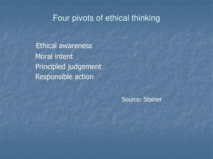 Four pivots of ethical thinking
