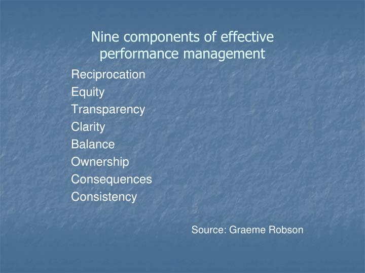 Nine components of effective