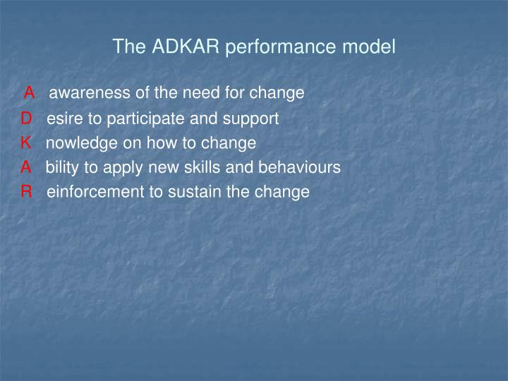The ADKAR performance model