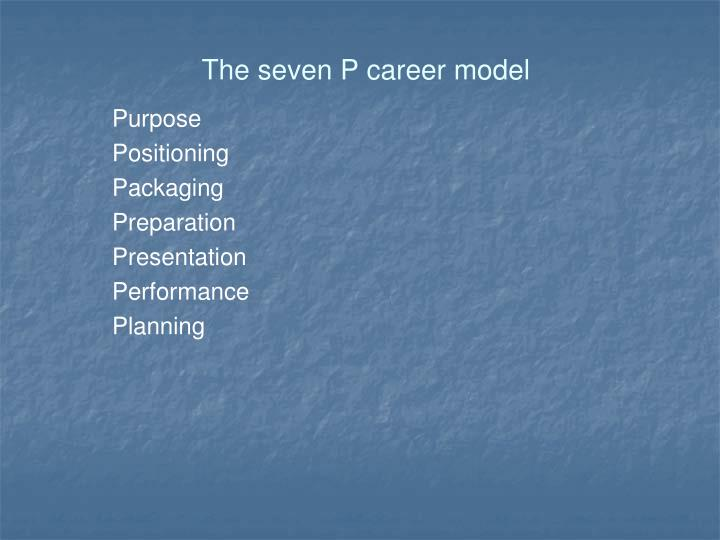 The seven P career model