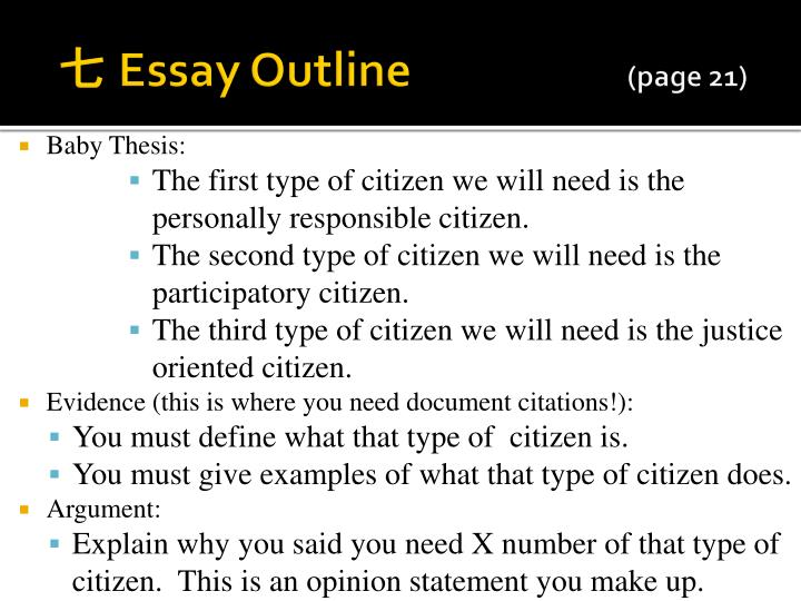 what types of citizen does a democracy need essay