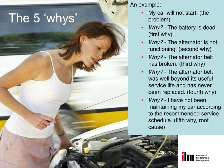 The 5 'whys'