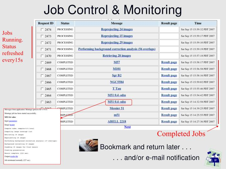 Job Control & Monitoring