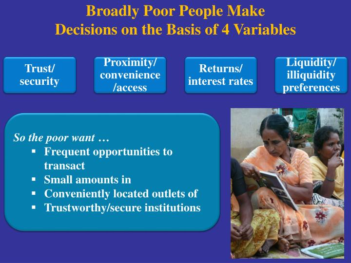 Broadly Poor People Make