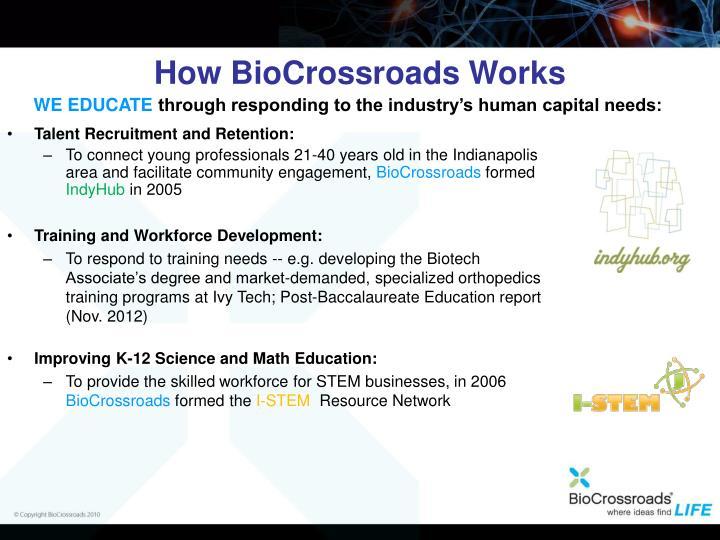 How BioCrossroads Works