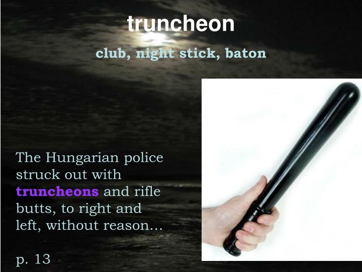 truncheon