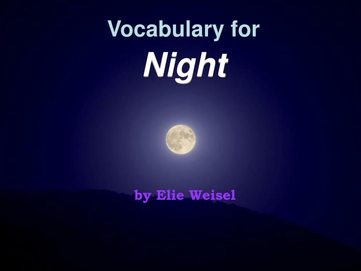 Vocabulary for night