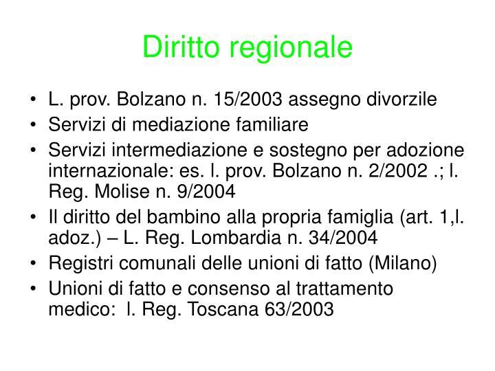 Diritto regionale