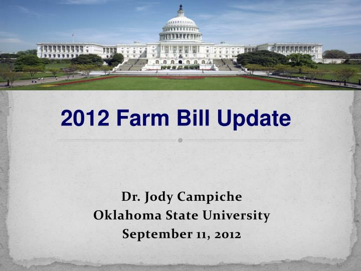Dr jody campiche oklahoma state university september 11 2012
