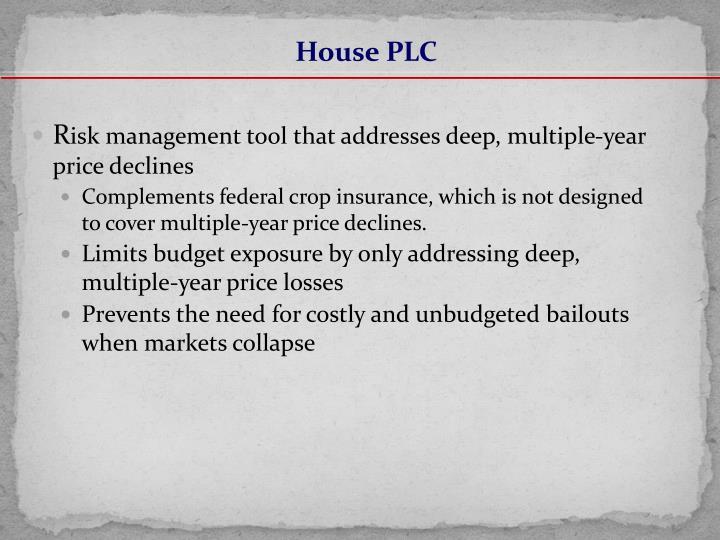House PLC