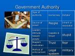 government authority