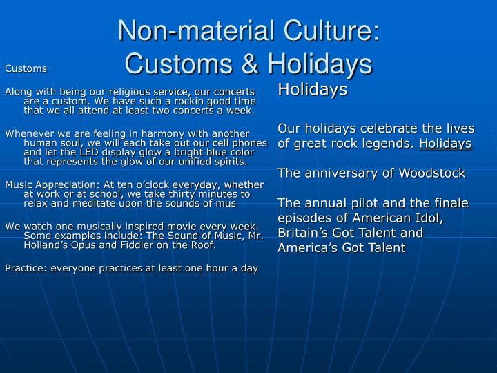 Non-material Culture: