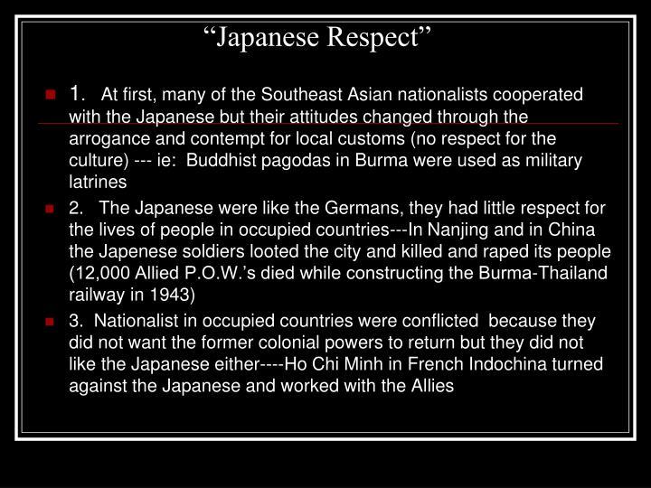 """Japanese Respect"""