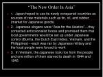 the new order in asia