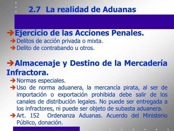 2.7La realidad de Aduanas