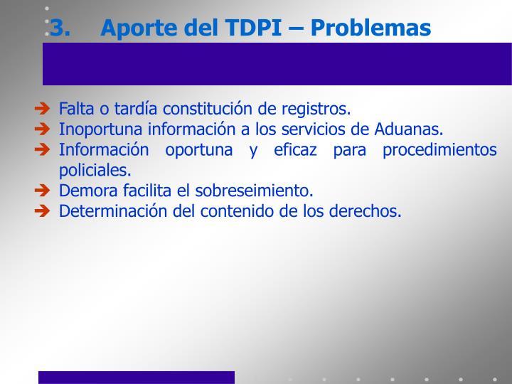 3.Aporte del TDPI – Problemas
