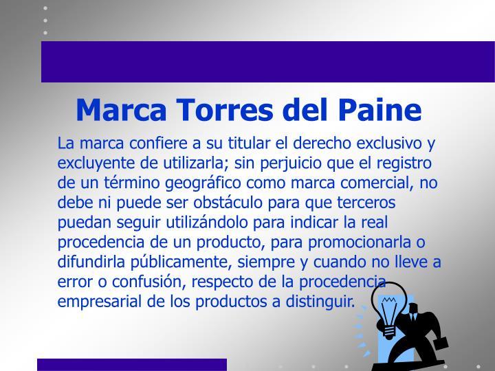 Marca Torres del Paine