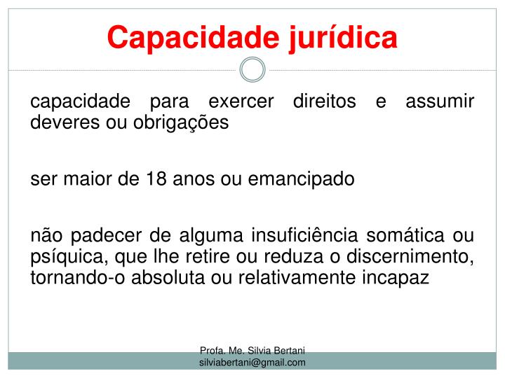 Capacidade jurídica