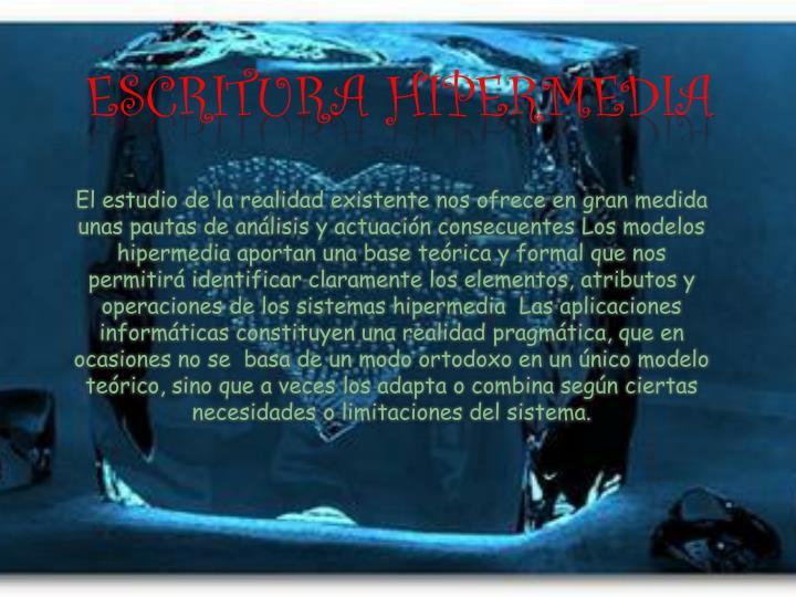 ESCRITURA HIPERMEDIA