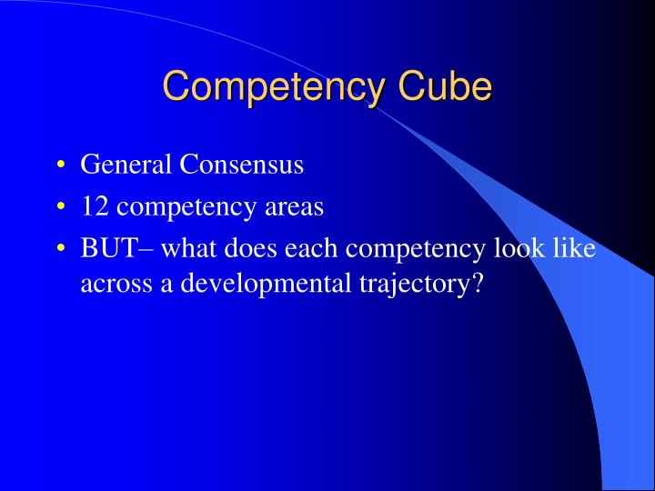 Competency Cube