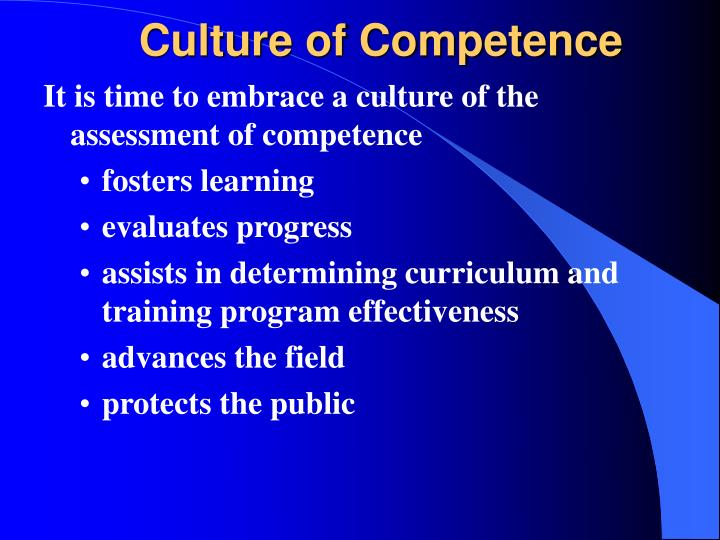 Culture of Competence