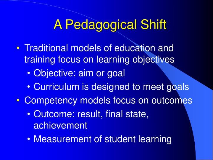 A Pedagogical Shift