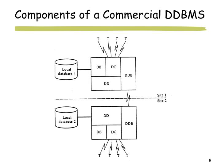Components of a Commercial DDBMS