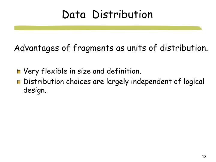 Advantages of fragments as units of distribution.