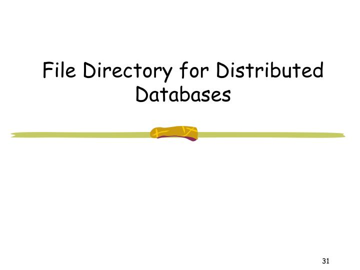 File Directory for Distributed Databases