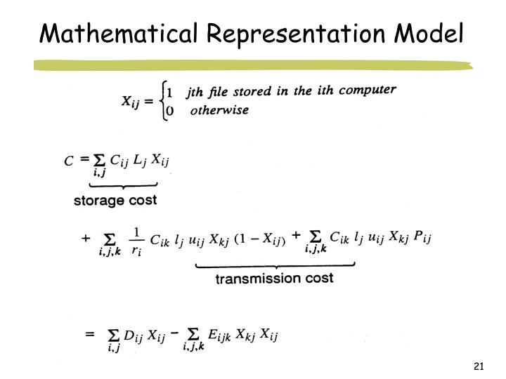 Mathematical Representation Model