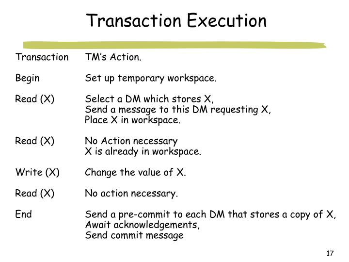 Transaction Execution