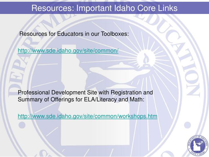 Resources for Educators in our Toolboxes: