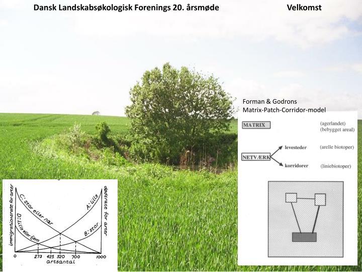 Dansk Landskabsøkologisk Forenings 20. årsmødeVelkomst