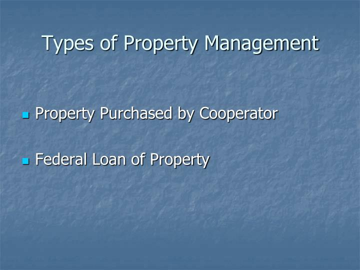 Types of Property Management