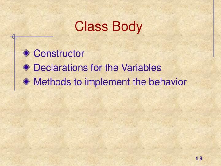 Class Body