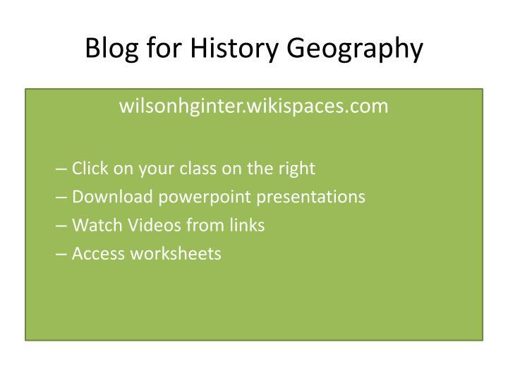 Blog for