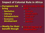 impact of colonial rule in africa
