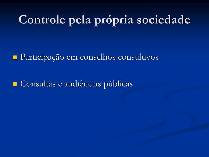 Controle pela própria sociedade