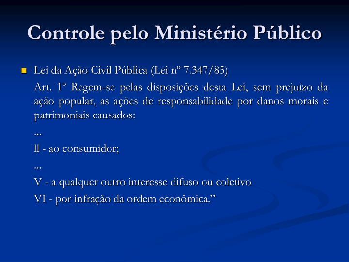 Controle pelo Ministério Público