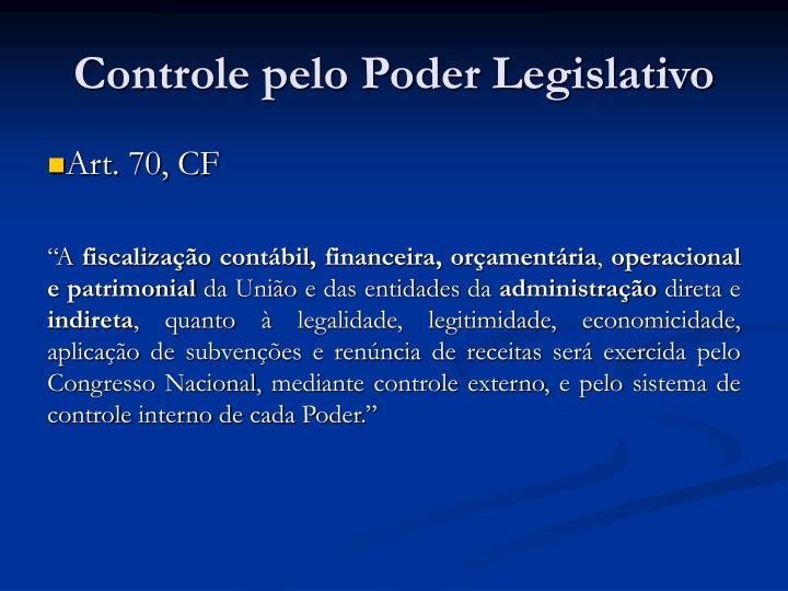 Controle pelo Poder Legislativo