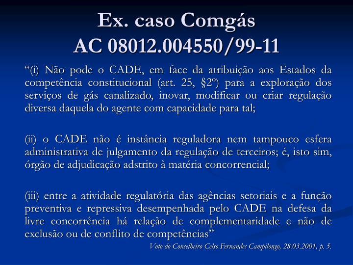 Ex. caso Comgás
