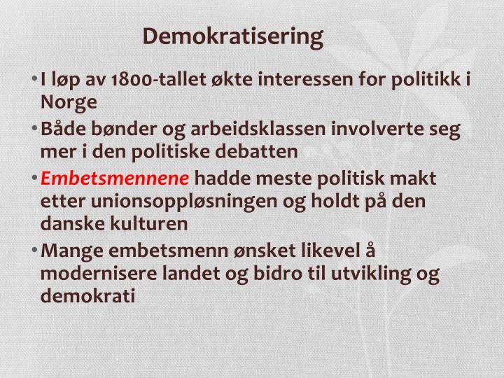 Demokratisering