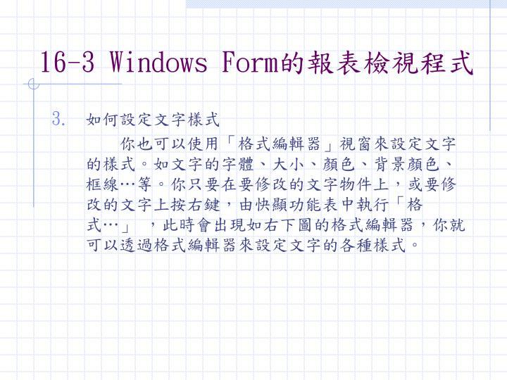 16-3 Windows Form