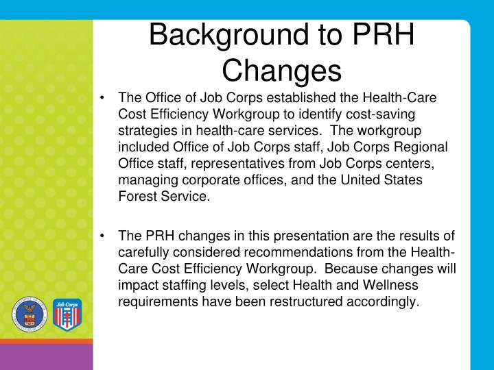 Background to PRH Changes